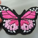 Pink Butterfly Patches Iron On Patch Applique Embroidered Patch Sew On Patch