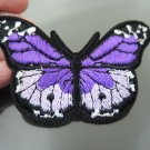 Purple Butterfly Patches Iron On Patch Applique Embroidered Patch Sew On Patch