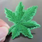 Green Leaf Patches Iron On Patch Applique Embroidered Patch Sew On Patch