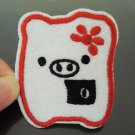 White Pig Patches Iron On Patch Applique Embroidered Patch Sew On Patch