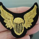 Gold Wing Patches Iron On Patch Applique Embroidered Patch Sew On Patch