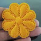 Orange Flower Patches Iron On Patch Applique Embroidered Patch Sew On Patch