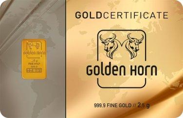 2.5GR 999.9% 24K Pure Gold Bar