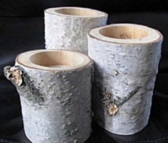 78 birch tea lights holders
