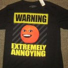 NWTS * ANNOYING ORANGE * Mens sz LARGE black graphic tee Shirt