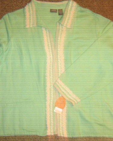 NWTS * NORTON MCNAUGHTON * Womens sz 2X 18W-20W classic green Blazer Jacket