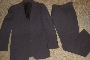BROOKFIELD Clothes MR LEE * Mens sz 36 black pinstripe suit BLAZER Jacket PANTS