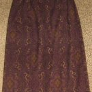 NWTS * BRIGGS NEW YORK * Petite Womens sz 6 6P dark purple pencil SKIRT