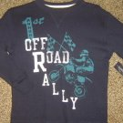 """NWTS * FADED GLORY * Boys sz 4 5 X-SMALL Blue thermal """"OFF ROAD RALLY"""" Shirt"""