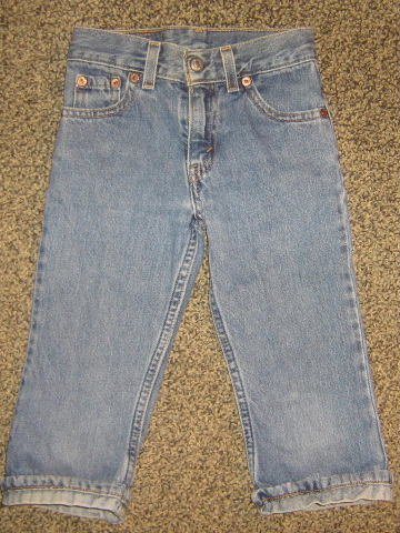LEVI STRAUSS * Girls sz 6 cropped & cuffed denim jean PANTS