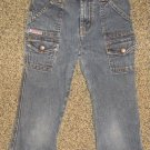 LEI * Girls sz 6 blue cropped denim jean PANTS