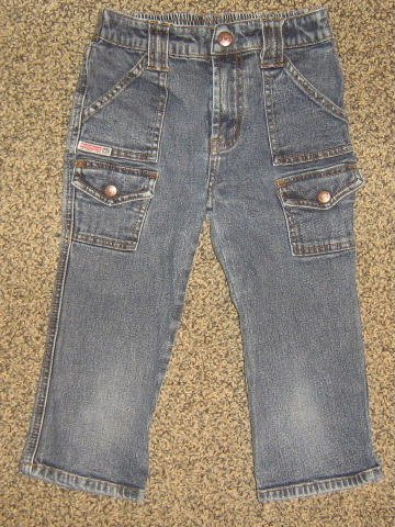 LEI * Girls sz 6 blue cropped denim jean PANTS