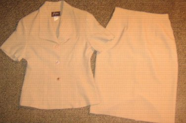 SWEET SUIT * Womens sz 8 career BLAZER Jacket pencil SKIRT