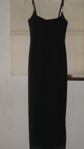 ROBERTA * Womens sz 3 / 4 sexy black full length formal party gown Dress