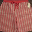 NWTS * NAUTICA * Womens sz SMALL logo cotton pajama SHORTS
