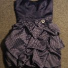 TRIXXI * Womens sz 7 navy blue & polka dots strapless party Dress