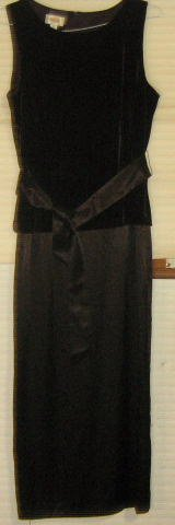 TALBOTS * Womens sz 12 sexy chocolate brown full length formal party gown Dress