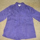 COLDWATER CREEK * Womens sz SMALL sheer purple button down SHIRT