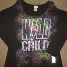 NWTS * APPROPRIATE BEHAVIOR * Womens sz MEDIUM Wild Child sparkle SHIRT