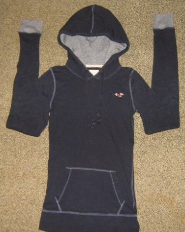 HOLLISTER * Womens sz Medium navy blue casual Hoodie JACKET coat