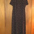 TALBOTS * Petite Womens sz 4 black floral Dress