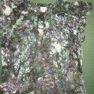 NWTS Worthington womens sz x-large XL green floral sleeveless sheer shirt top