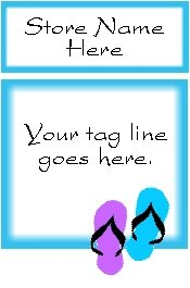 Ecrater logo set ~ coordinating logo & home page pic (#001 flipflops blue)