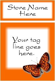 Ecrater logo set ~ coordinating logo & home page pic (#003 butterfly orange)