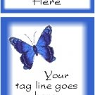 Ecrater logo set ~ coordinating logo & home page pic (#004 butterfly blue)