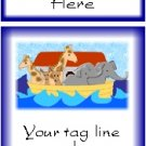 Ecrater logo set ~ coordinating logo & home page pic (#006 Noah's ark blue)