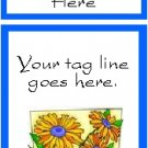 Ecrater logo set ~ coordinating logo & home page pic (#007 flowers)