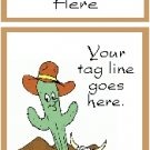 Ecrater logo set ~ coordinating logo & home page pic (#009 cartoon cactus)