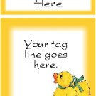 Ecrater logo set ~ coordinating logo & home page pic (#010 yellow ducky)