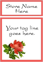 Ecrater logo set ~ coordinating logo & home page pic (#012 single rose)