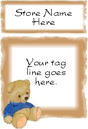 Ecrater logo set ~ coordinating logo & home page pic (#018 teddy bear)