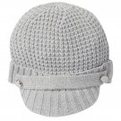 Michael Kors Women's Thermal Peak Knit Visor Beanie - Light Gray