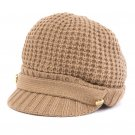 Michael Kors Women's Thermal Peak Knit Visor Beanie - Brown