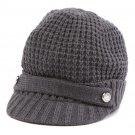 Michael Kors Women's Thermal Peak Knit Visor Beanie - Dark Gray