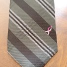 Susan G. Komen Black & Gray Striped Knots For Hope Men's Necktie