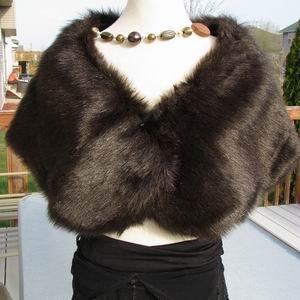 Sable Faux Fox Fur Wrap For Winter