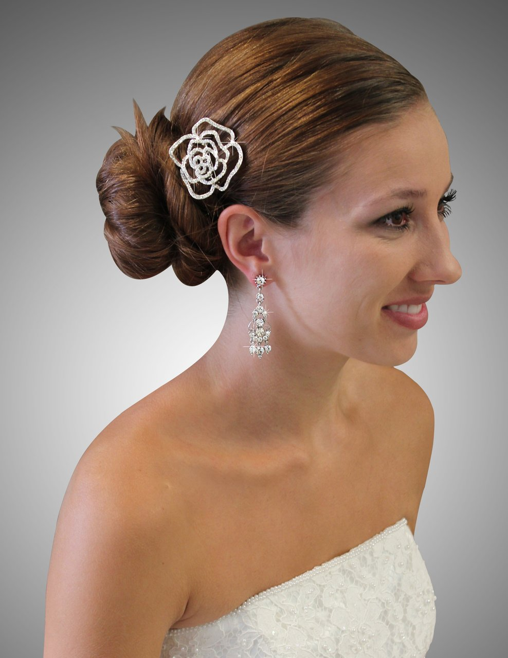 Bridal Wedding Austrian Hair Pin  #HP58