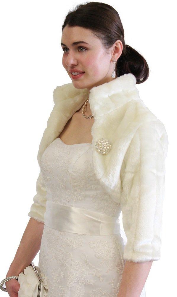 Ivory Faux Fur Jacket