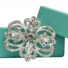 Bridal Austrian Crystal Brooch Hair Pin #3071