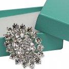 Bridal Austrian Crystal Brooch Pin