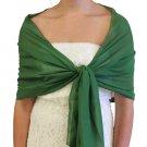 Chiffon Scarf Bridal Wrap Wedding Stole - Clover Green 8139CH