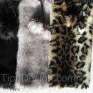 Leopard Faux Fur Leg Warmers for kids