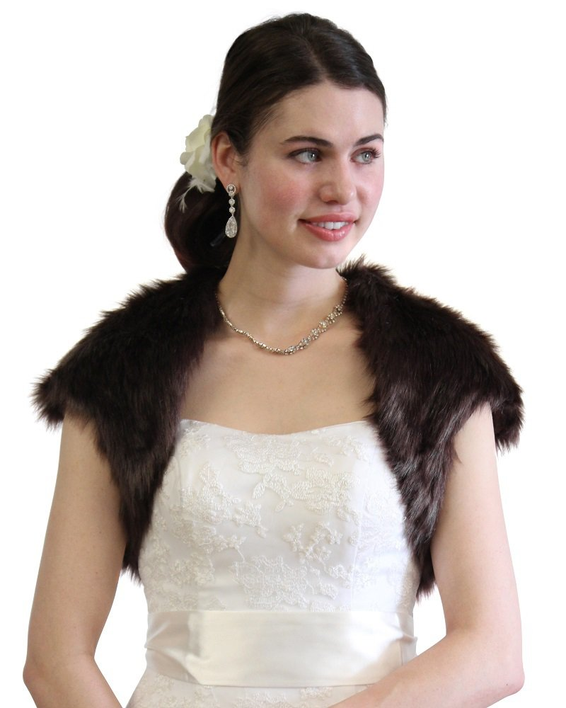 Bridal bolero, Sable Faux Fur Bolero Jacket Fox on Sale