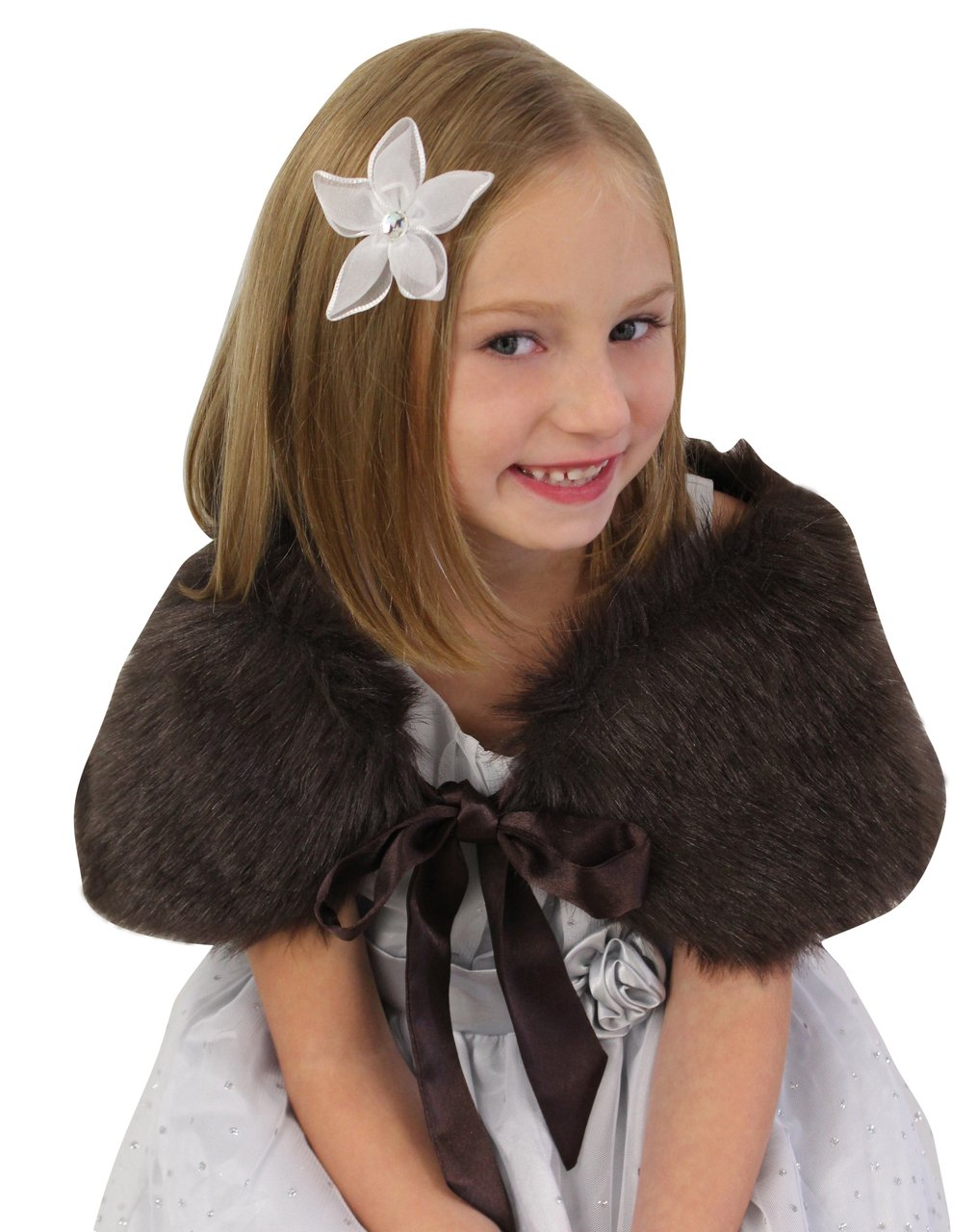 Sable Girls Child Faux Fur Shawl on Spring Sale