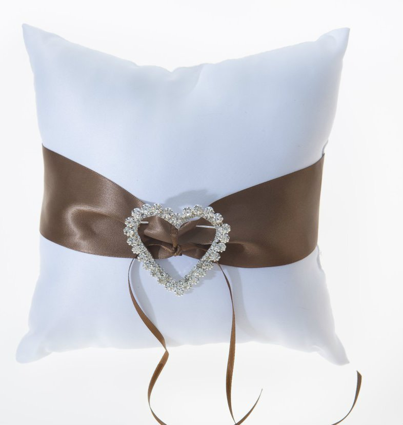 Sable Satin Ring Bearer Pillow