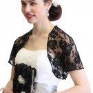 Black Lace Bolero With Short Sleeve 720ROS-BLK